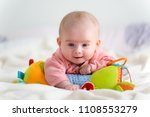 laughing five months old infant ... | Shutterstock . vector #1108553279
