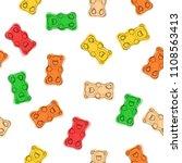gummy bears candies hand drawn... | Shutterstock . vector #1108563413