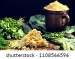 sauerkraut as the best...   Shutterstock . vector #1108566596