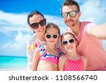 young beautiful family taking... | Shutterstock . vector #1108566740