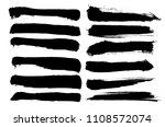 vector ink splashes or black... | Shutterstock .eps vector #1108572074