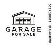 line art garage logo design... | Shutterstock .eps vector #1108576520