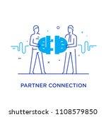 businessmen connect connectors. ... | Shutterstock .eps vector #1108579850
