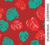 seamless tropical pattern with... | Shutterstock .eps vector #1108584443