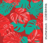 seamless tropical pattern with... | Shutterstock .eps vector #1108584446