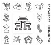set of 13 simple editable icons ... | Shutterstock .eps vector #1108591508