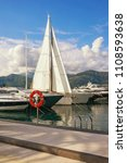 mediterranean port. montenegro  ...   Shutterstock . vector #1108593638