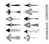 vector set of vintage arrows | Shutterstock .eps vector #110859590