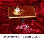 a handmade mahogany casket with ...   Shutterstock . vector #1108596278