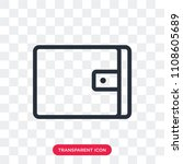 wallet vector icon isolated on...   Shutterstock .eps vector #1108605689