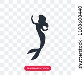 little mermaid vector icon... | Shutterstock .eps vector #1108608440
