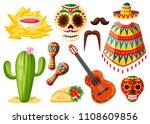 Mexico Colorful Symbols....