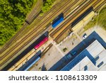 aerial view of railway station... | Shutterstock . vector #1108613309