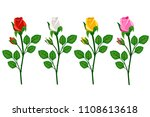 beautiful roses buds... | Shutterstock .eps vector #1108613618