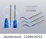 liquid eyeliner  set of blue... | Shutterstock .eps vector #1108616213