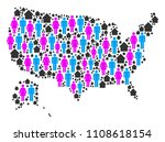 population usa with alaska map. ... | Shutterstock .eps vector #1108618154