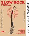 slow rock festival gig poster... | Shutterstock .eps vector #1108618739