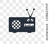 antenna vector icon isolated on ... | Shutterstock .eps vector #1108621919