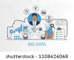 big data vector background with ... | Shutterstock .eps vector #1108626068