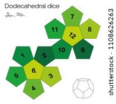 dodecahedron template ... | Shutterstock .eps vector #1108626263