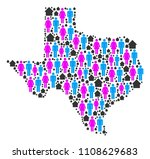 population texas map. household ... | Shutterstock .eps vector #1108629683