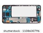 disassembled smartphone  flat... | Shutterstock . vector #1108630796