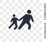 drag child vector icon isolated ... | Shutterstock .eps vector #1108631603
