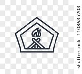 fireplace vector icon isolated...   Shutterstock .eps vector #1108635203