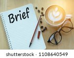 concept brief on notebook with... | Shutterstock . vector #1108640549
