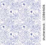 pattern consisting of flowers... | Shutterstock .eps vector #110864606
