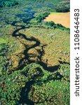 aerial of beaver lodge  spruce...   Shutterstock . vector #1108646483