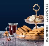 eid elfitr sweet cookies with... | Shutterstock . vector #1108647686