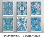 abstract fantasy doodle floral... | Shutterstock .eps vector #1108649036