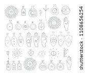 hand drawn mystic esoteric... | Shutterstock .eps vector #1108656254