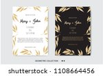 golden vector invitation with... | Shutterstock .eps vector #1108664456