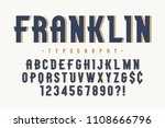franklin trendy vintage display ... | Shutterstock .eps vector #1108666796