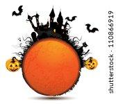 halloween card with pumpkin and ...   Shutterstock .eps vector #110866919