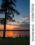 Beautiful sunset on Lake Guntersville, Alabama