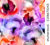 seamless watercolor background... | Shutterstock . vector #1108670243