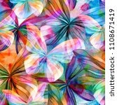 seamless watercolor background... | Shutterstock . vector #1108671419