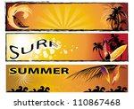 set of summer banner   Shutterstock .eps vector #110867468