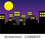 city night illustration | Shutterstock .eps vector #110868029