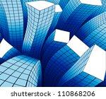 the dancing buildings in the... | Shutterstock . vector #110868206