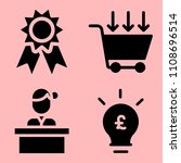 business icons set of... | Shutterstock .eps vector #1108696514