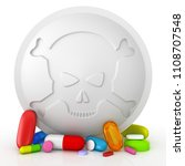 collection of colorful pills... | Shutterstock . vector #1108707548