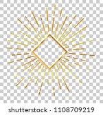 vector golden sunburst with... | Shutterstock .eps vector #1108709219