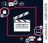 clapperboard icon symbol | Shutterstock .eps vector #1108710278