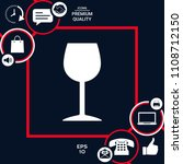 wineglass icon symbol | Shutterstock .eps vector #1108712150