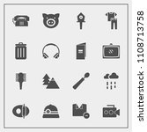 modern  simple vector icon set... | Shutterstock .eps vector #1108713758