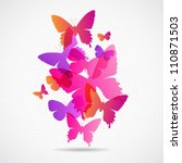 Stock vector vector butterflies background design colorfull eps concept 110871503